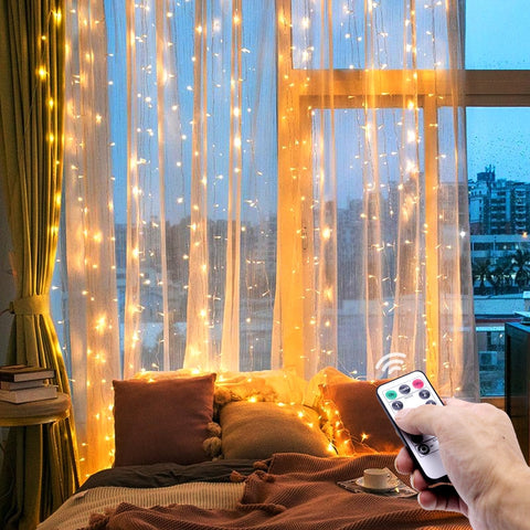 Universal 5V USB Powered LED Garland Curtain String Lights for Home Decoration