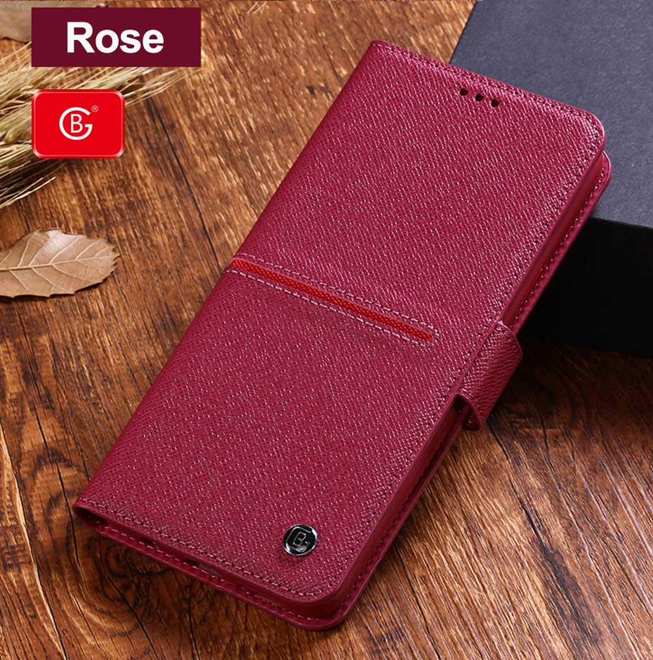Luxury Genuine Leather  Flip Cover Case For Samsung Galaxy S10 E S9 Plus Note 8 9 10