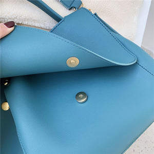 Elegant PU Shoulder Women's Large Capacity Handbag
