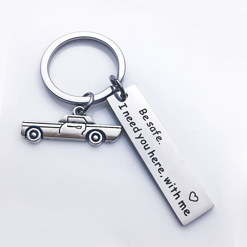 Drive Safe I Need You Here with Me Keychain Personalized Gifts for Valentines Day Gift