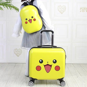 18'' Kids Suitcase Travel Luggage Set Bag with 14 inch Backpack