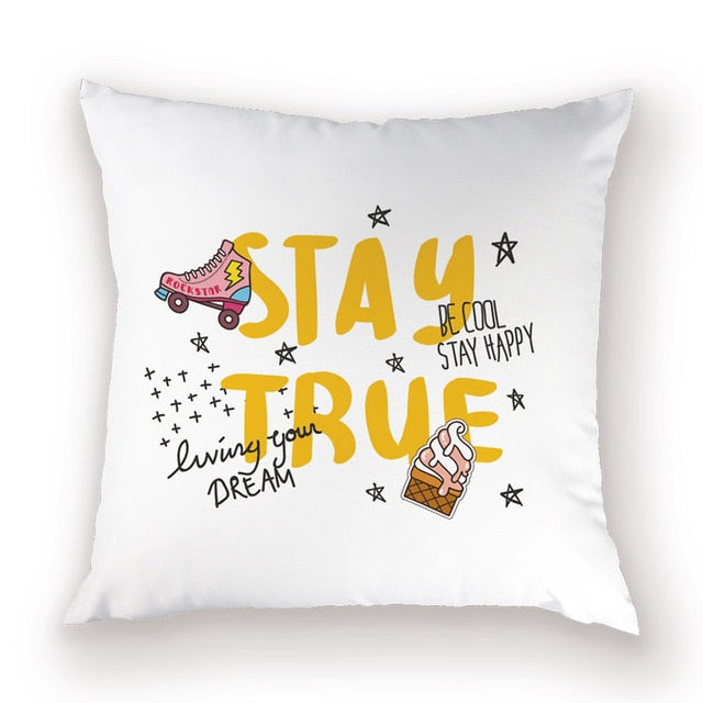 High Quality Boho Decorative Colorful Letter Cushion Cover
