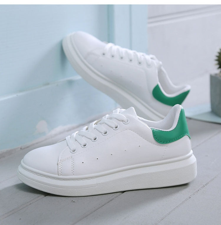 Top selling Soft Leather White Casual Shoes for Women