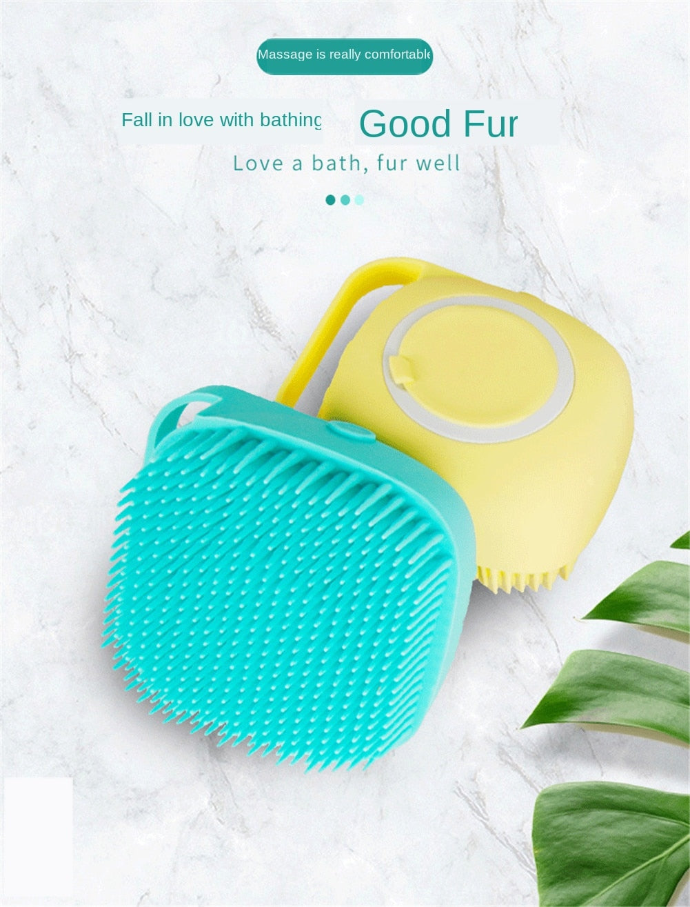 Soft Silicone Pet Massage Brush Cleaning Grooming Tools