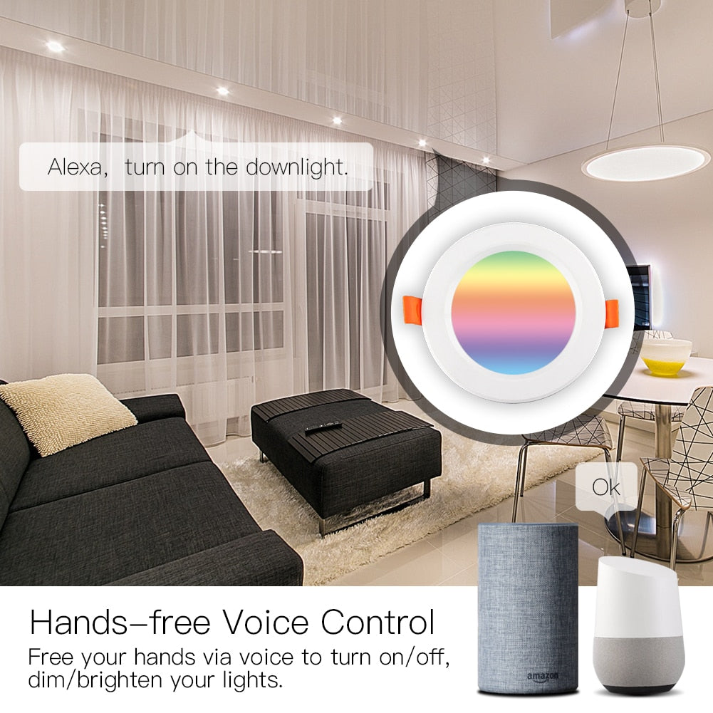 Warm Cool Color Changing WiFi Smart LED Downlight Dimming Round Spot Light Work with Alexa Google Home