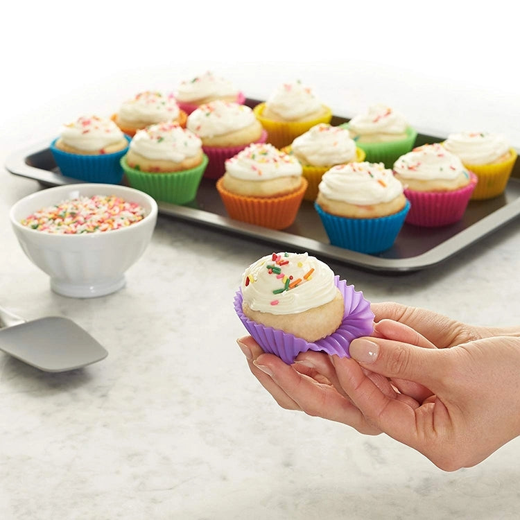 Reusable Silicone Cake Baking Round Shape Cupcake Liner Muffin Cups