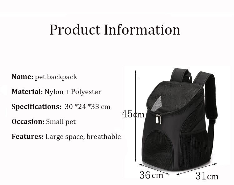 Adjustable High-Quality Breathable Big Space Pet Carrier
