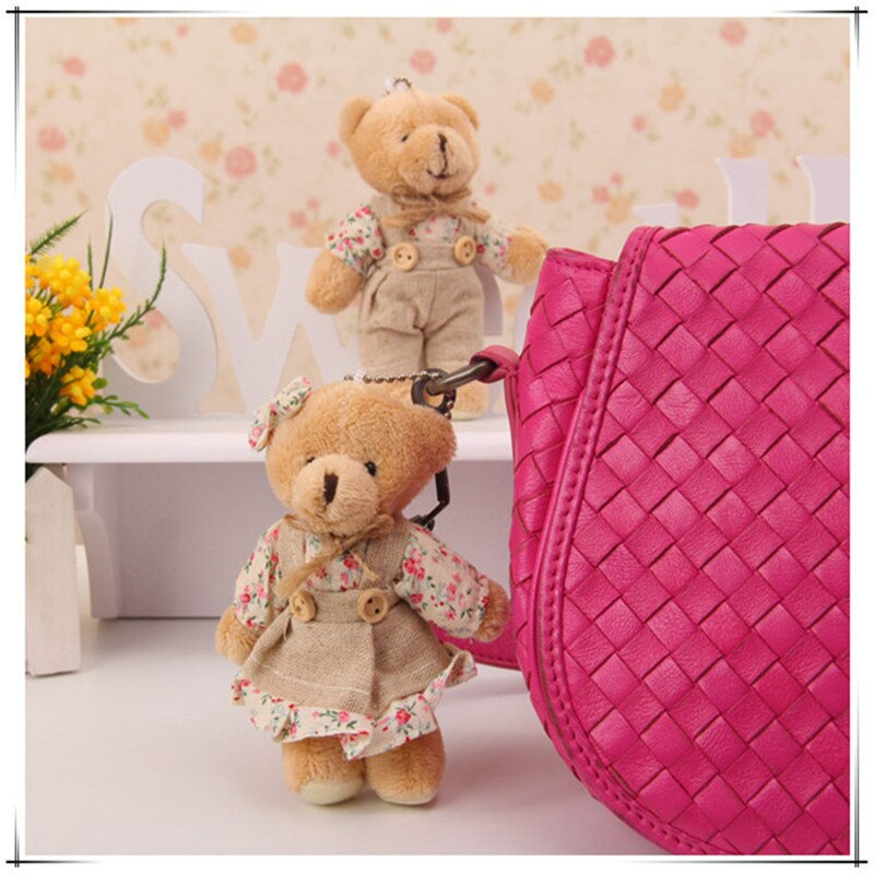 12pcs 6 Pair 11cm Small Teddy Bear Key Chain Doll for Valentine's Day