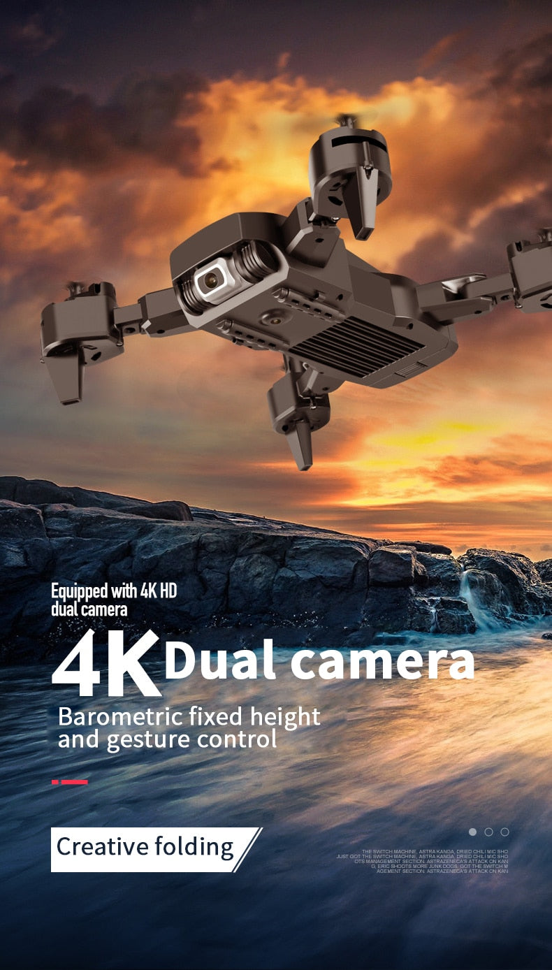 NEW 4k HD Wide Angle Camera 1080P WiFi FPV Drone Dual Camera Quadcopter