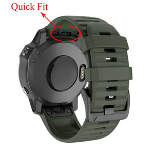26 22MM Quick Release Watch Band Strap for Garmin Fenix 6X 6 6S Pro