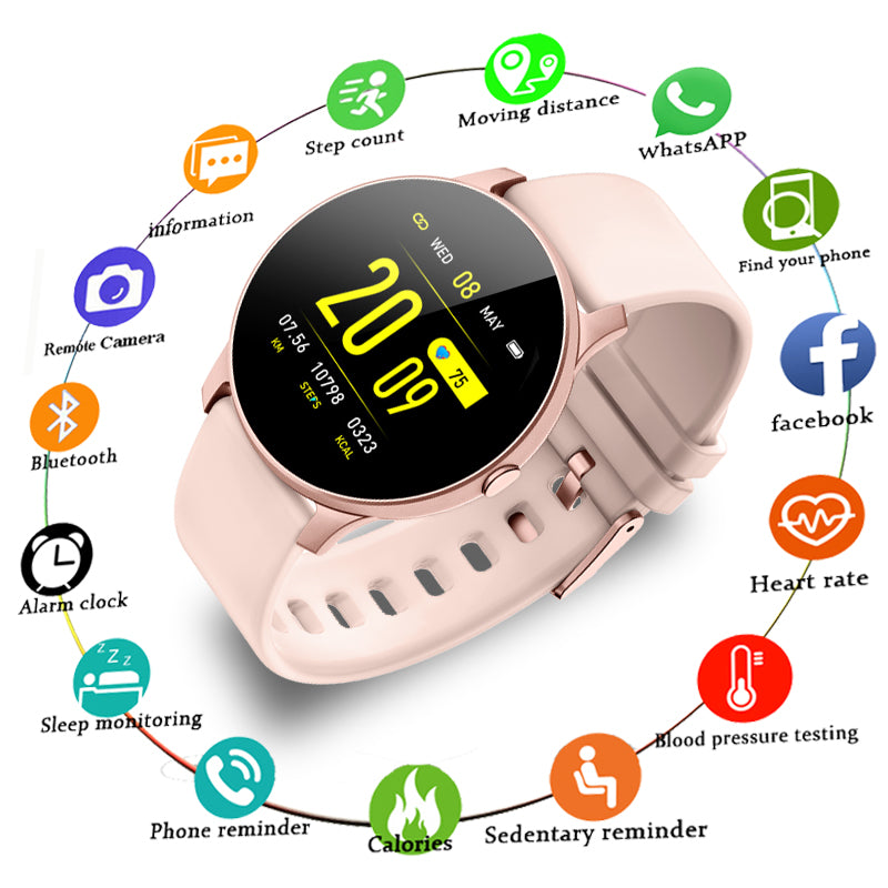New Fashionable Heart Rate Health Monitoring Pedometer Smart Watch