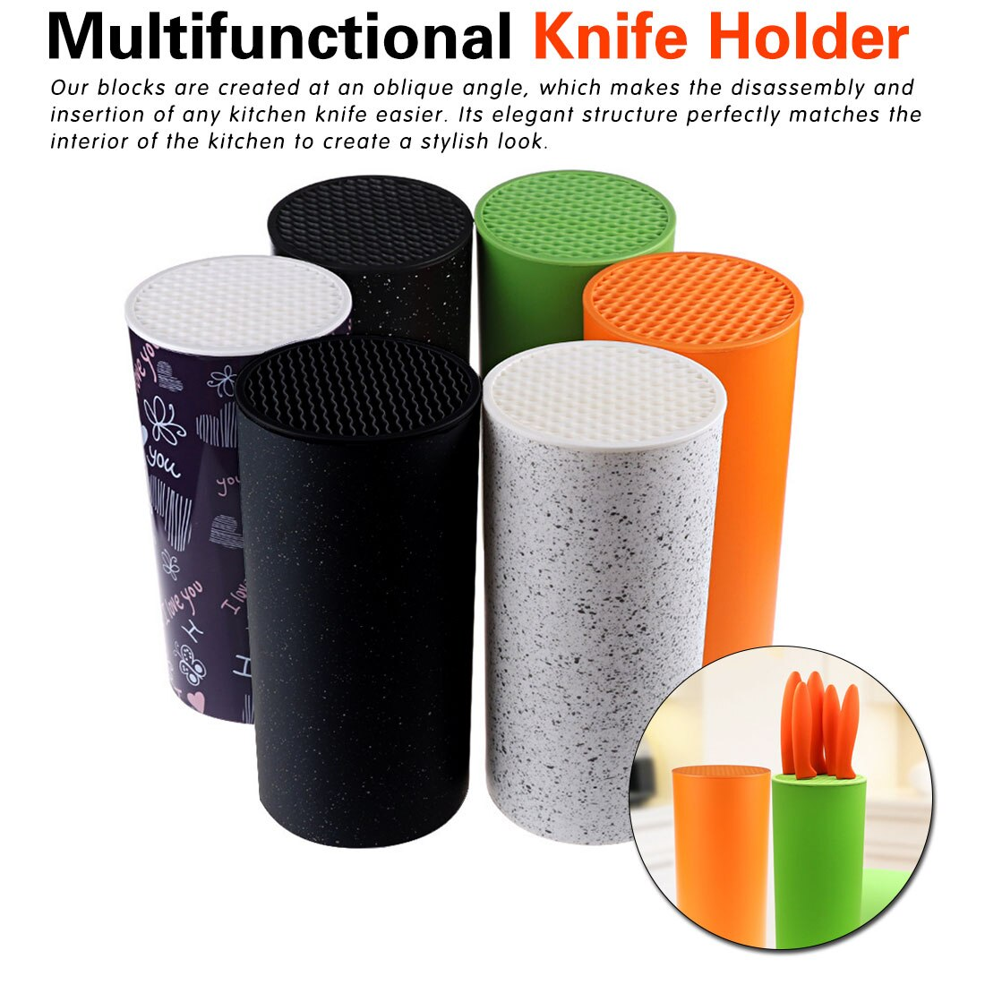 Multifunctional Plastic Knife Tool Holder