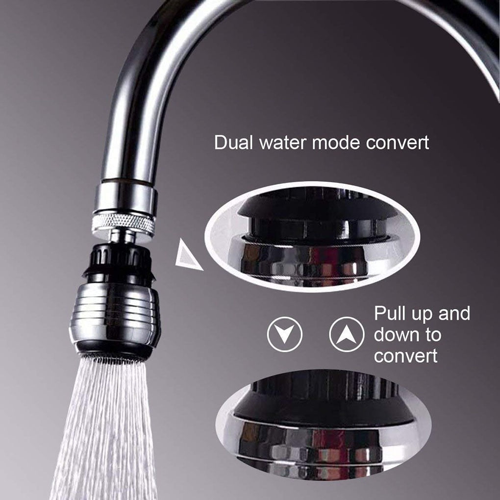 2 Modes 360 Degree Adjustable Water Filter Diffuser Water Saving Nozzle Faucet Connector Shower
