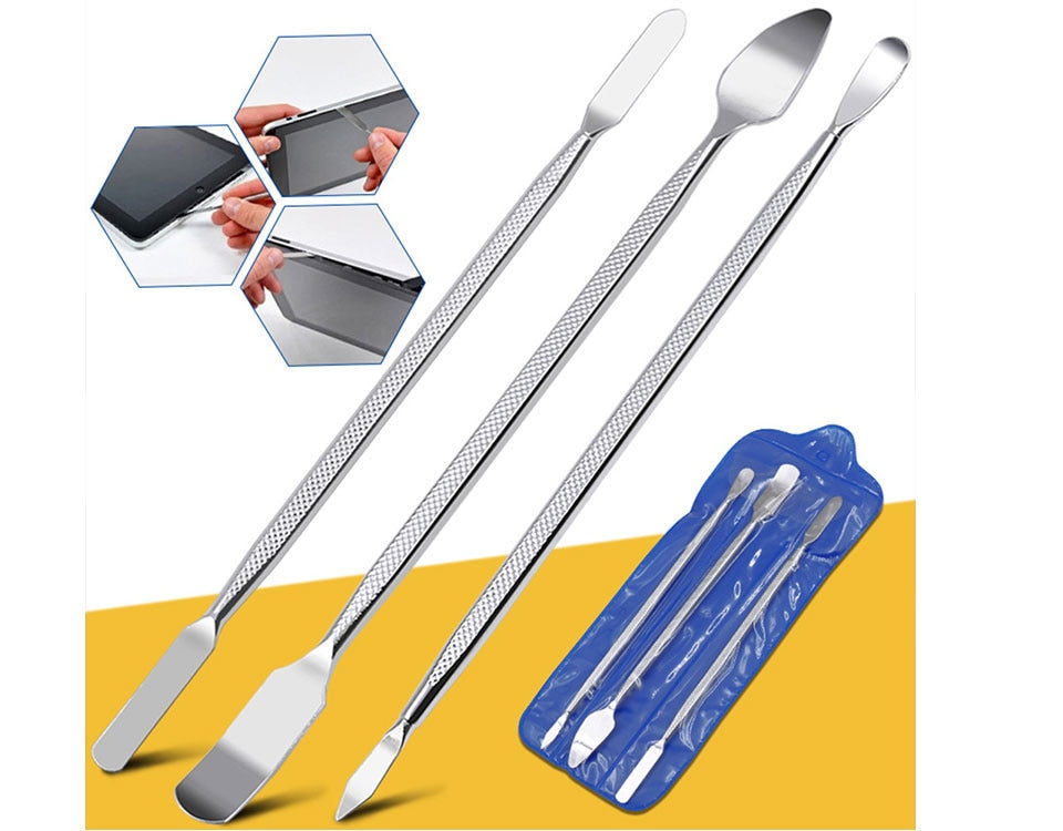 Universal Stainless Steel 3Pcs/Set CellPhone Repair Opening Tools Set