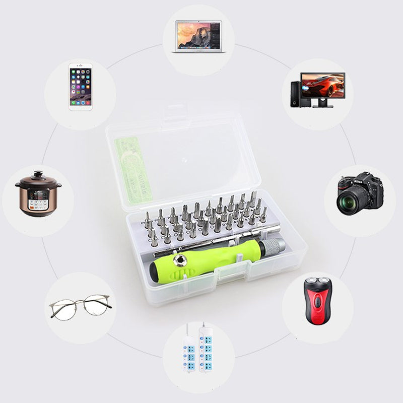 32 In 1 Screwdriver Repair Tool Bits Fully Equipped With Tools Storage Box