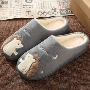 New Non-slip Soft Fur Warm Indoor Slipper for Women