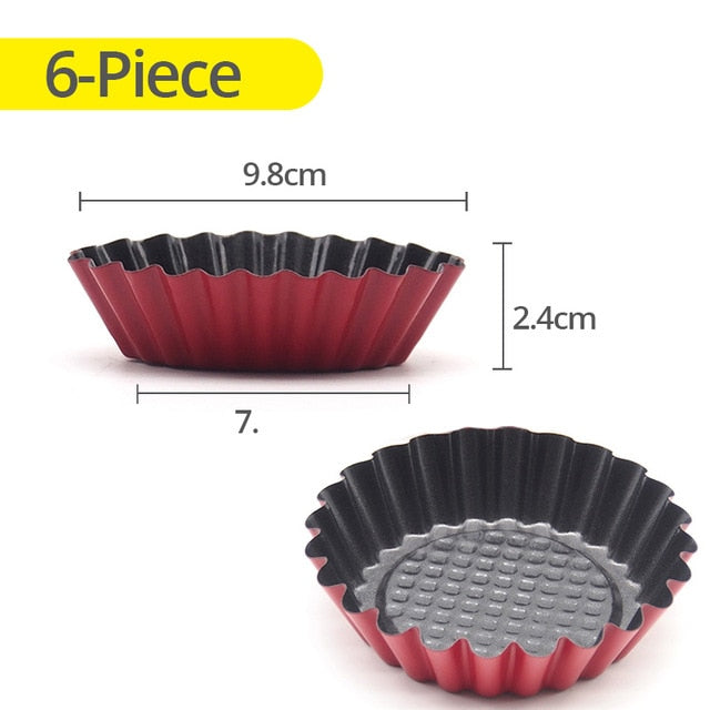NonStick Mini Pie Muffin Cupcake Pans Egg Tart Bakeware -  12 Moulds