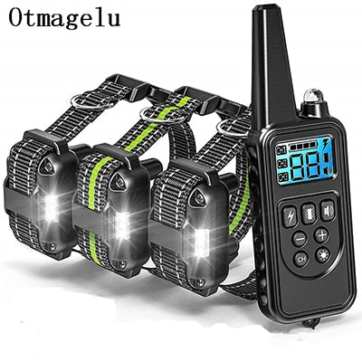 Waterproof Rechargeable Dog Training Collar with LCD Display for Pets