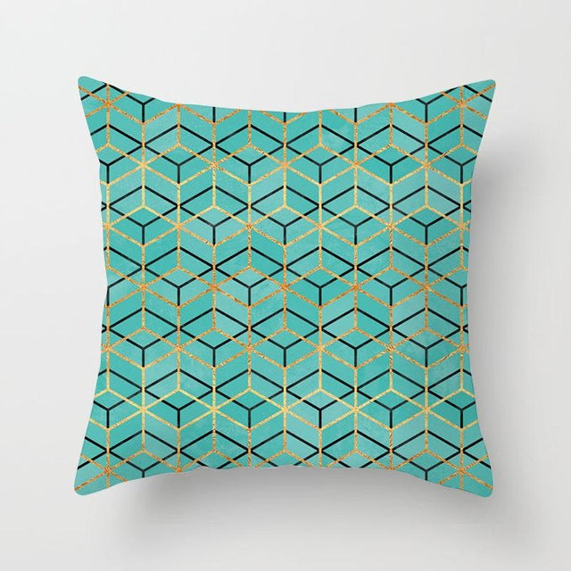 Colorful Geometry Pattern Cushion Covers for Home Decoration