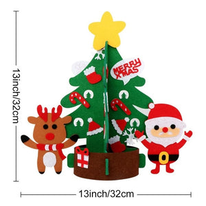 Warm DIY Fake Christmas Tree Snowman with Ornaments for Kids Party Decoration