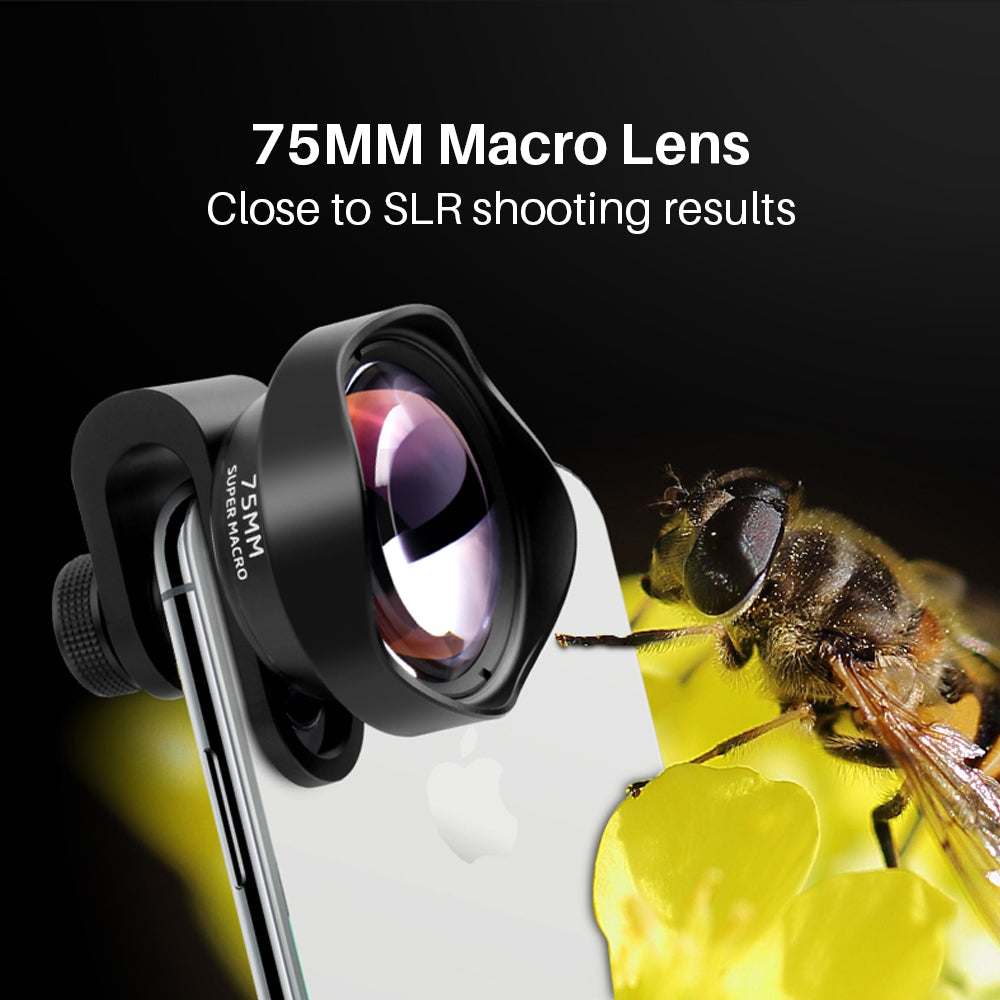10X 75MM Macro Phone Camera Lens with 17MM Thread Mobile Lens Clip for iPhone 11 Pro Max