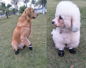 4Pcs Outdoor Non-Slip Resistant and Warm Waterproof Boots for Medium to Large Dogs