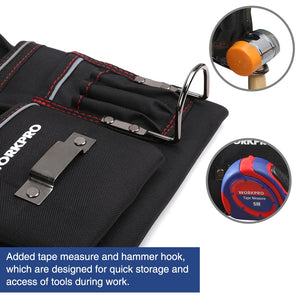 Multifunction Electrician Waist Tool Bag with Adjustable Belt
