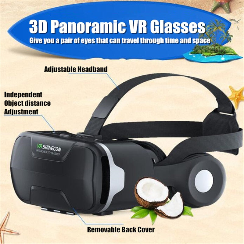 Blu-Ray VR Virtual Reality 3D Glasses Box Stereo Google Cardboard Headset Helmet for IOS Android Smartphone