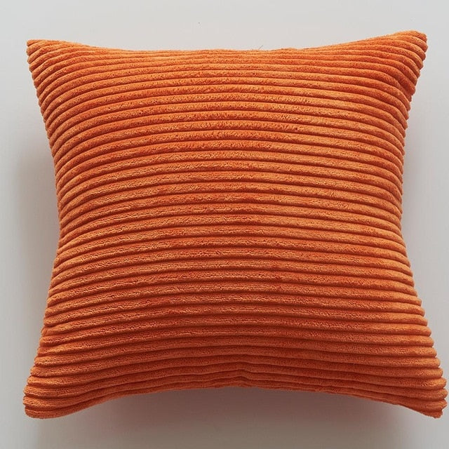 Handmade Solid Color Soft Velvet Cushion Cover for Home Decor