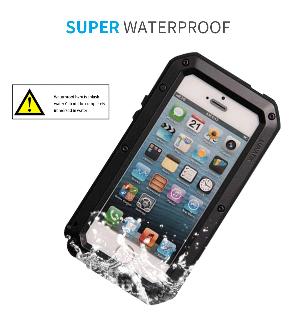Waterproof PC+TPU 3-Layers Hybrid Full Protect Case for iPhone X XS Max 8 7 6 6S Plus 5 5S SE