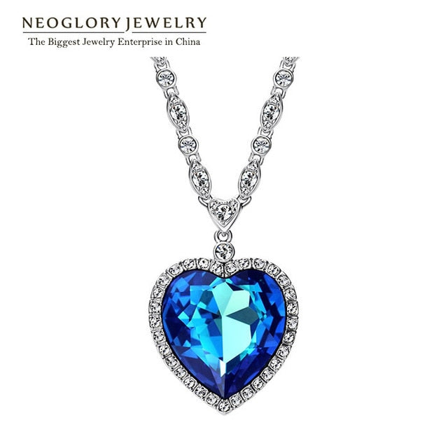 Beautiful Heart of Ocean Crystal Pendant Necklace for Women