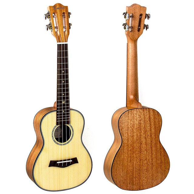 23 inch Ukelele Tiger Flame Starter Kit Classical Guitar Head with Gig Bag Tuner Strap String