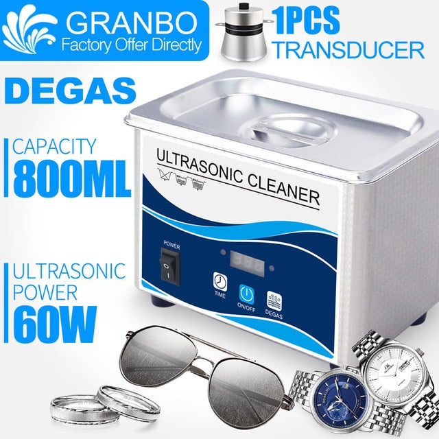 Digital Ultrasonic Cleaner for Gold Sliver Jewelry Glasses Jade Necklace Oxides Rust Oil Washer