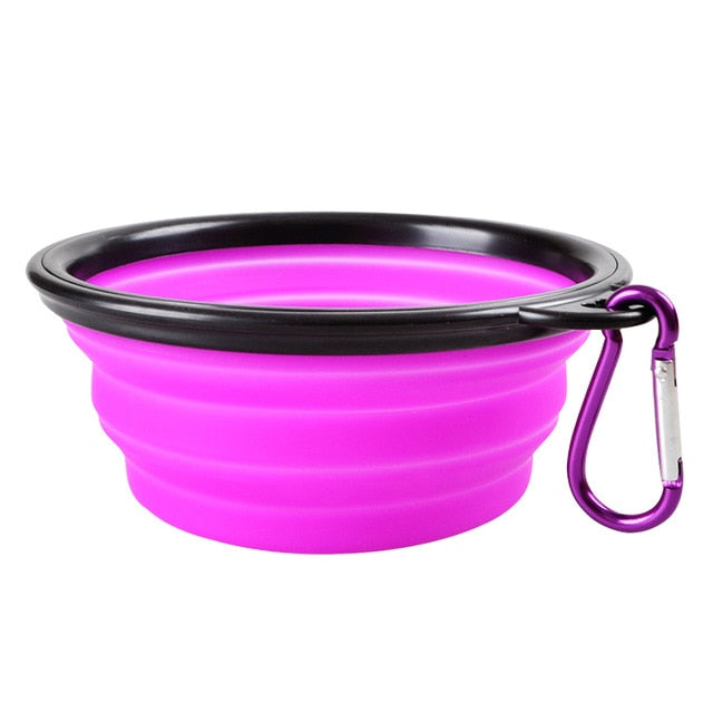 Travel Folding Portable Food Bowl with Buckle for Pets