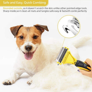 Professional Double Sided Hair Brush For Pets