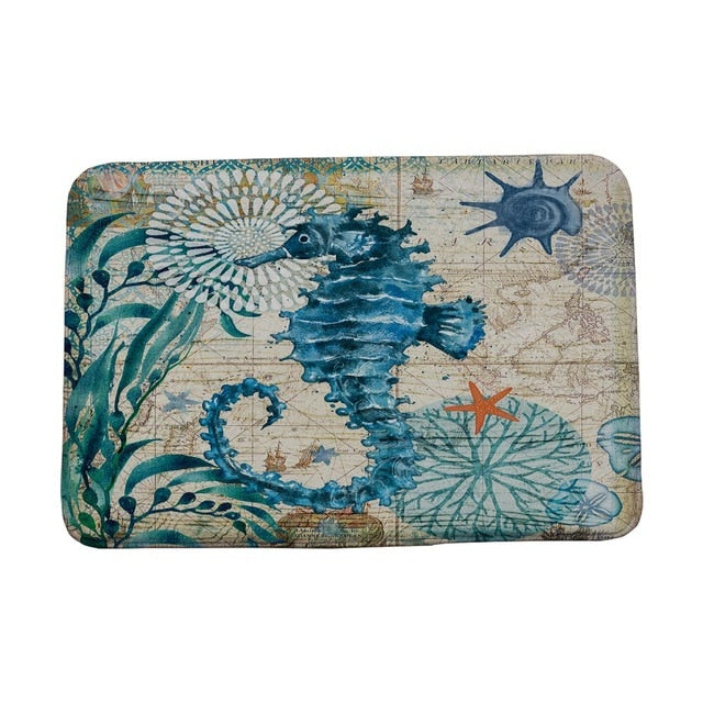 Marine Style Door Mat Floor Carpet for Living Room