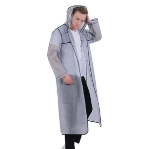 Waterproof Adult Men/Women Long Thick Rainwear Coat