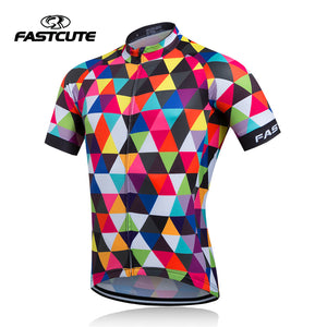 Quick Dry Short Sleeve Cycling Jersey for Outdoor Sports