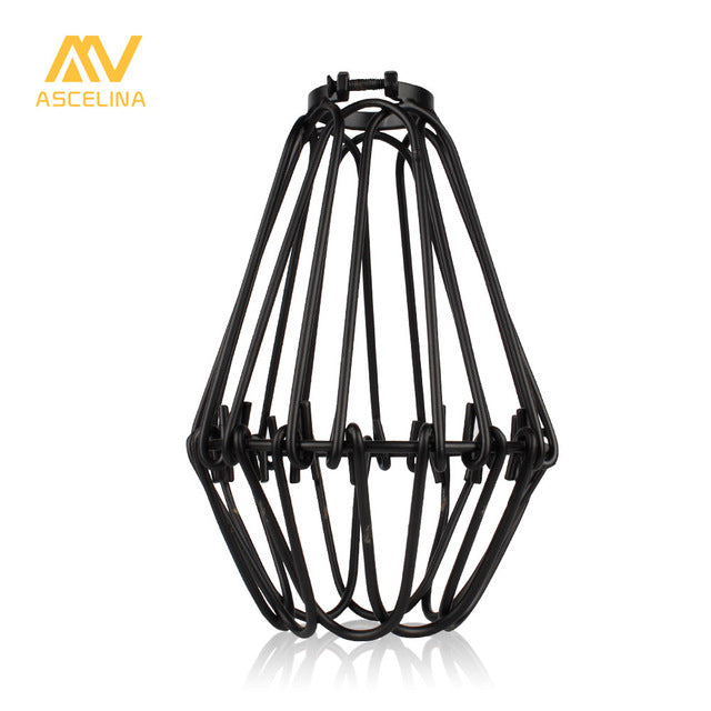 Traditional DIY Metal Cage Bulb Pendant Light Lamp Shade for Home Decor