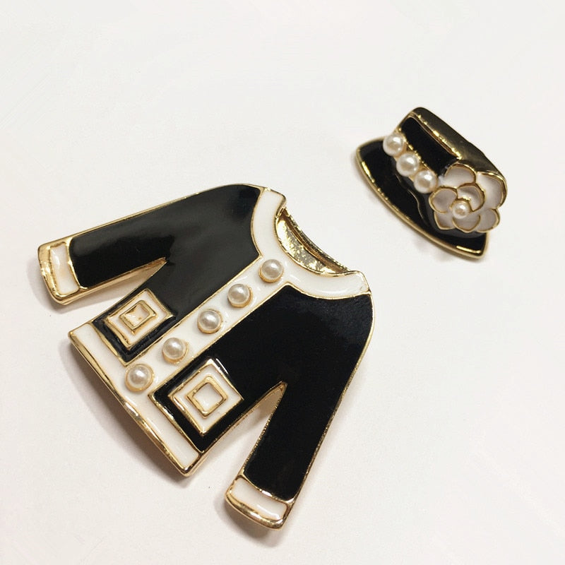 Camellia Luxury Brand Lapel Enamel Pins and Brooches for Women Clothing