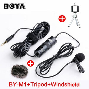 3.5mm Lavalier Lapel Microphone for Canon Nikon iPhone Android Phone