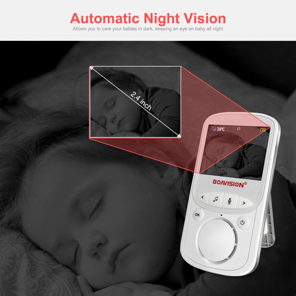 Wireless LCD Display Audio & Video with Temperature Monitoring Baby Monitor Camera