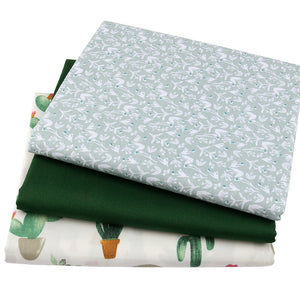 40x50cm 6Pcs/Lot Green Floral Fabric DIY Handmade Sewing Quilting Fat Quarters Patchwork Cloth
