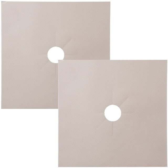 4pcs/set Gas Stove Protector Cooker Cover Liner Clean Mat Pad