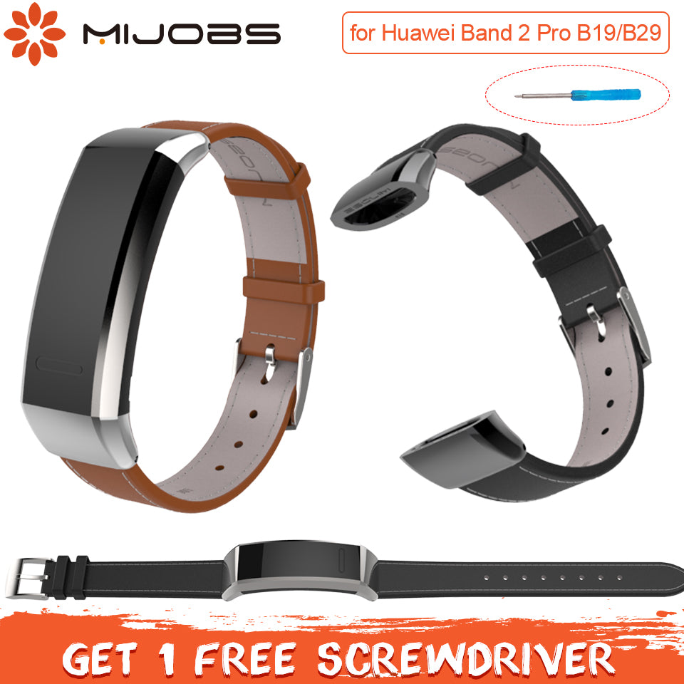 Leather Wrist Smart Strap for Huawei Band 2 Pro B29 B19 Band 2 Accessories