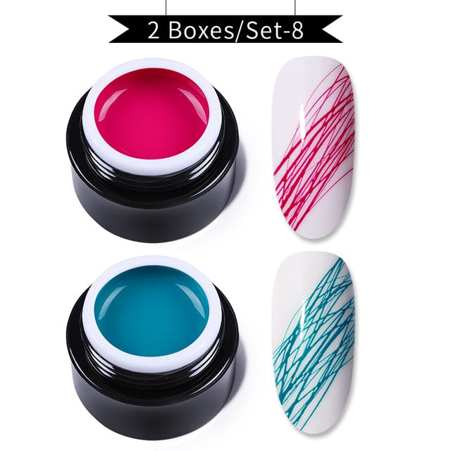 Creative Wire Drawing Nail Gel Varnish Point To Line Pulling Silk UV Spider Gel Nail Polish