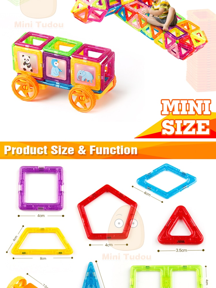 Mini Magnetic Building Blocks Designer Constructor Toys For Children