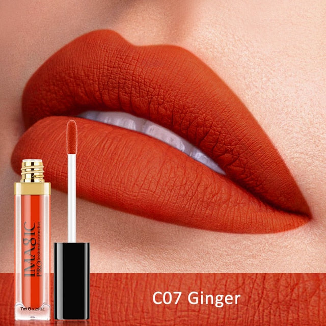 New Waterproof Matte Red Liquid Lipstick