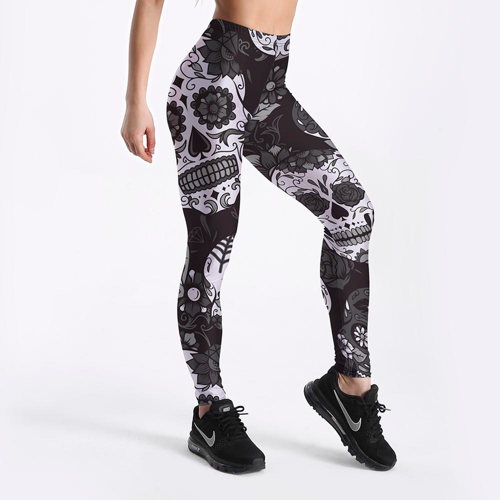3D Printed High Waist Push Up Fitness Workout Leggings for Women