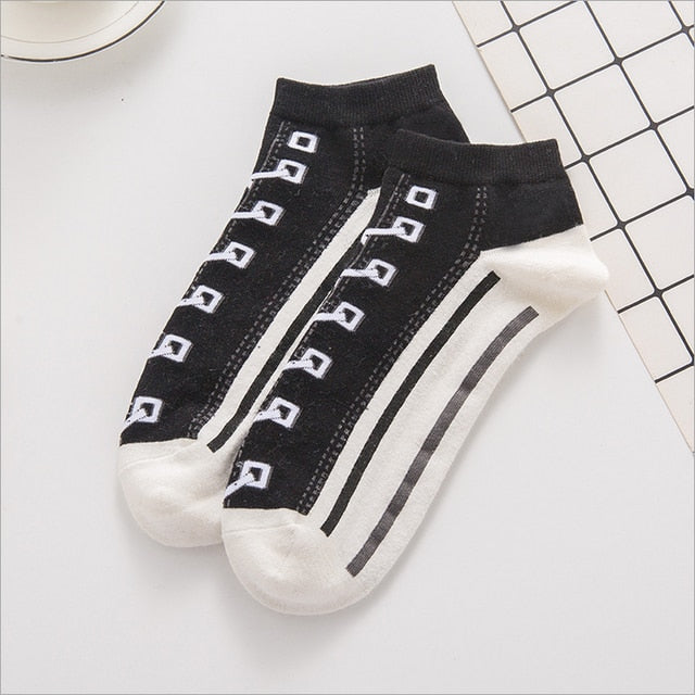 New Comfortable Cotton Printed Ankle Socks